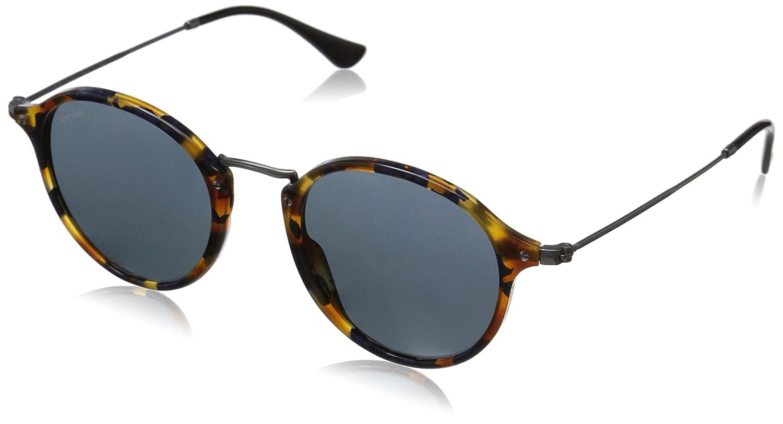 Ray Ban Puente de metal redondas gafas de sol el espejo verde