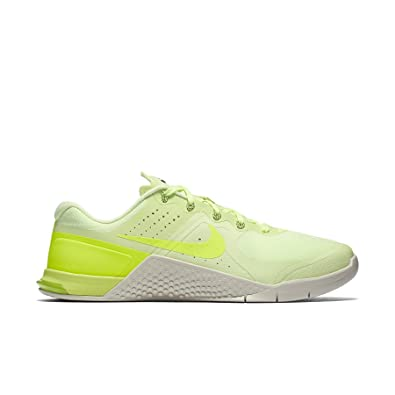NIKE Mens Metcon 2 Training Shoes Barely Volt/Bone/Black 819899-700 Size