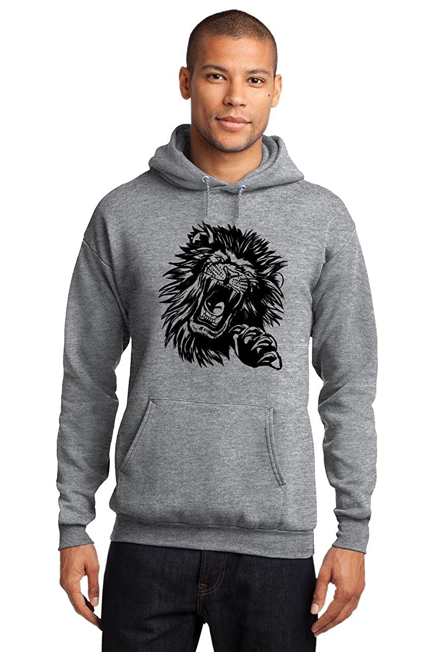 Comical Shirt Mens Lion Face Hoodie