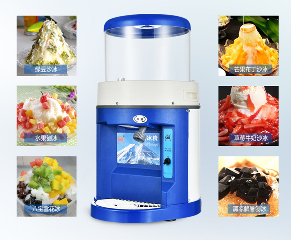WF-A268 Commercial full automatic ice machine electric ice crusher shaver machine for commercial shop Speed : 8kg / min Capcity: 6kg