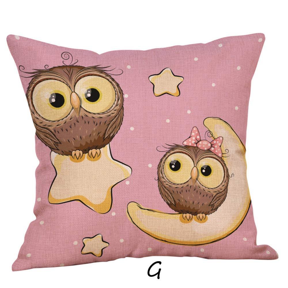 Amazon.com: Mome - Funda de almohada decorativa con dibujos ...