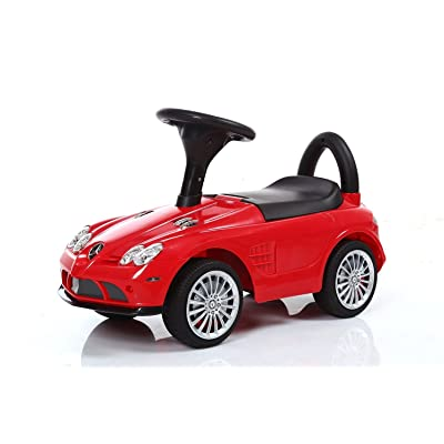 BuyHive Ride On Car Toddler Ride On Push Foot to Floor Mercedes Riding Car Toy: Toys & Games