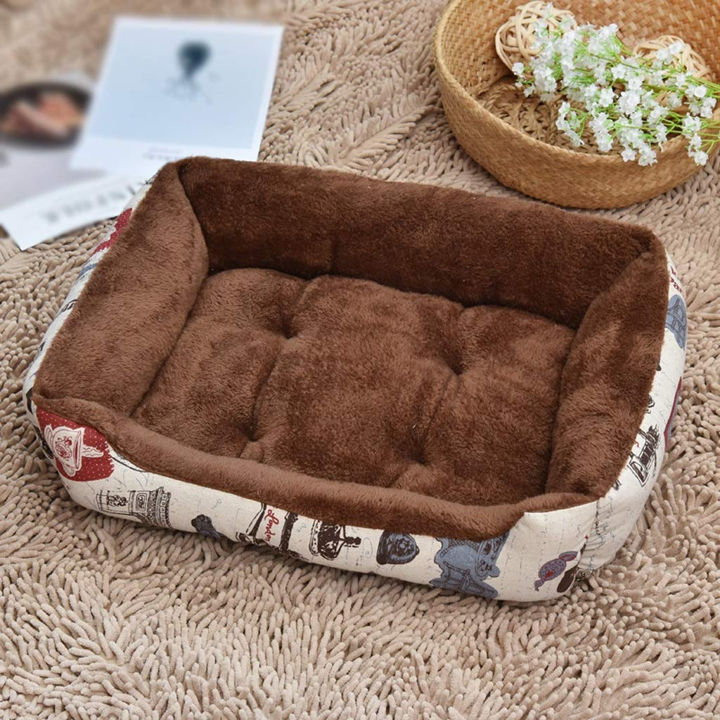 A 806015cmKennel GAOLILI Doghouse Warm Winter Teddy Pet Cat Trash Small Medium Large Dog Supplies (color   B, Size   70  52  15cm)