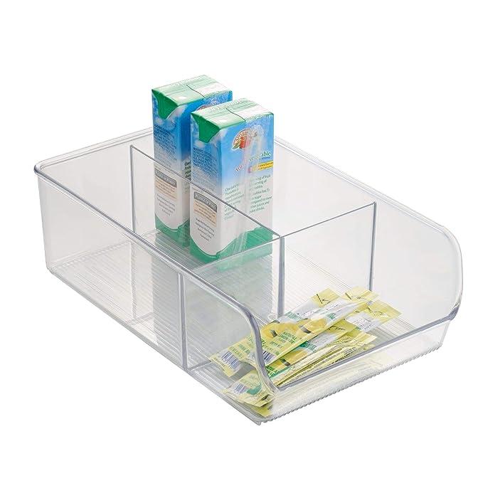 5 Compartimentos, con Cremallera Completa, 5 Secciones Addis Home Bolsa de Almacenamiento para Debajo de la Cama Color Gris