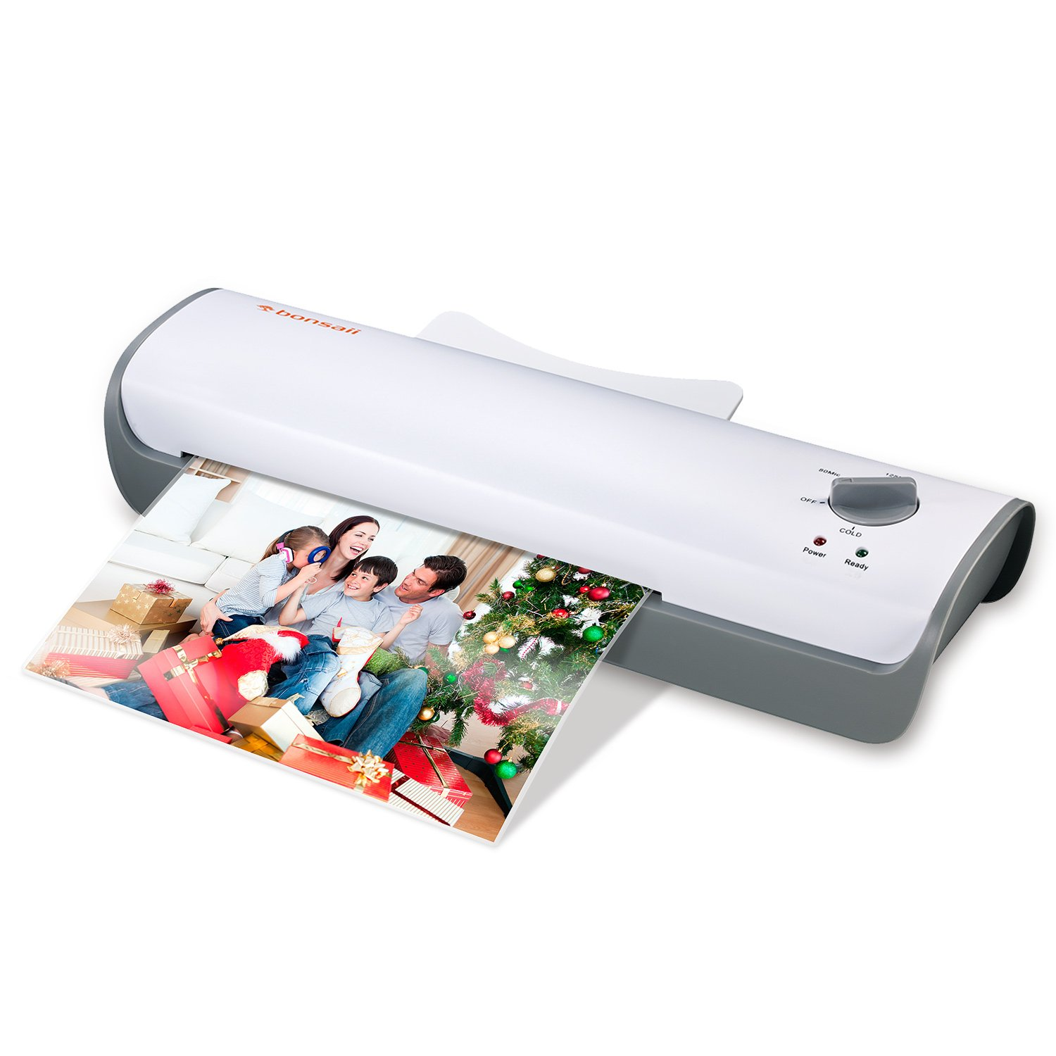 "Bonsaii Laminator Machine, 13"" Thermal Laminator, Quick 3-5 mins Warm-up, High Laminating Speed, Jam-Release Switch (L307-A)"