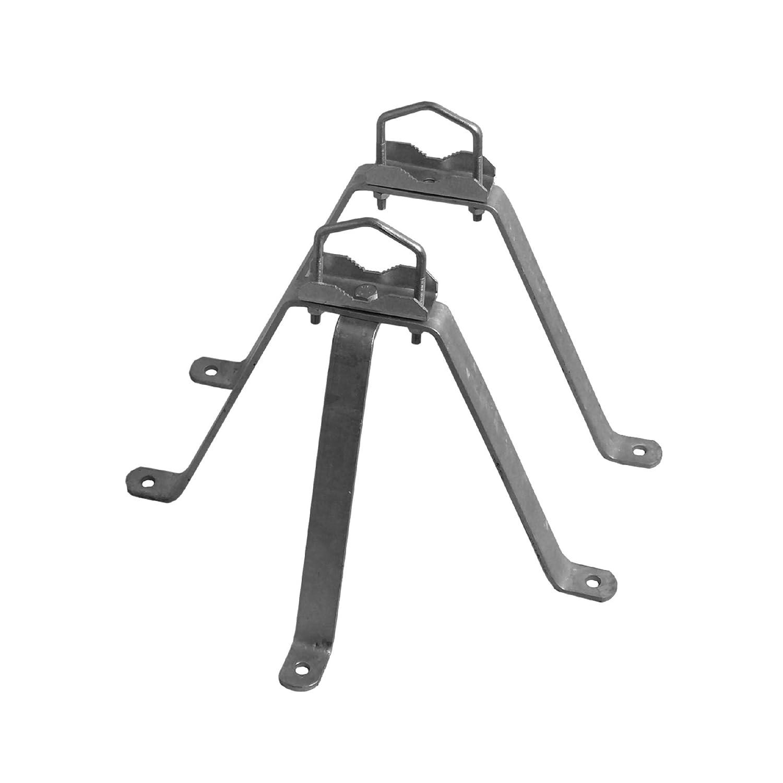 A.S.Sat Feuerverzinkter Stahl Wandhalter 2-teilig 30 cm Abstand f/ür Masten 42 bis 60mm