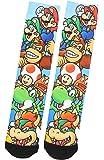 Nintendo Super Mario Luigi Donkey Kong Yoshi Characters Sublimated Crew Socks