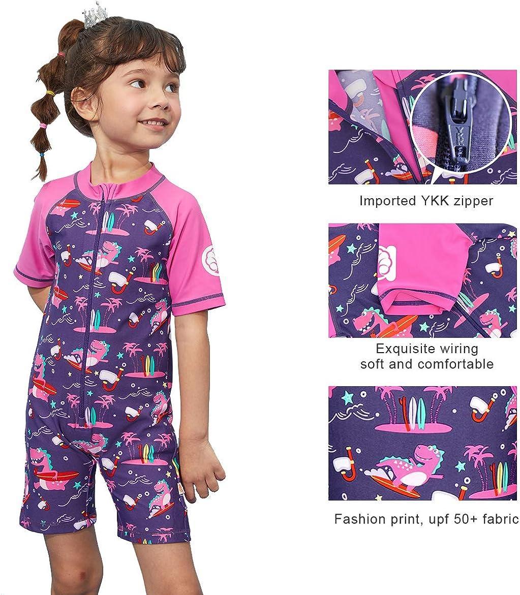miniatree Swimsuit Girls Boys Rash Guard Toddler One Piece Swimwear Kids Swimming Bathing Suit Sunsuit 1-9
