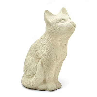 Birdwatching Cat: Solid Stone Home or Garden Statue. Sealed for Outdoor Use. Made in The USA (Classic) : Garden & Outdoor