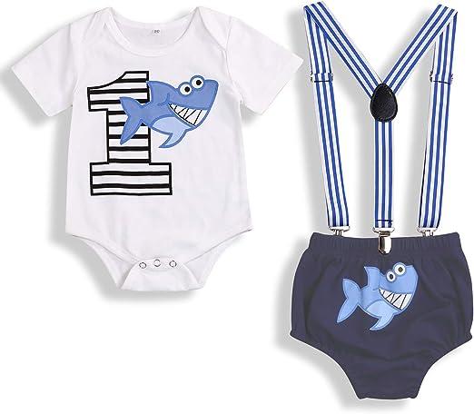 Amazon.com: Bebé Cumpleaños Tiburón Ropa Bebé Niño Niña ...