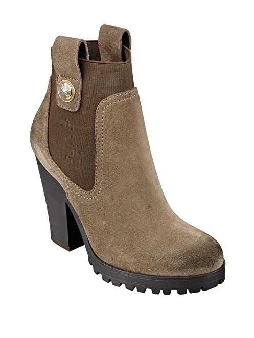 GUESS Cariss Suede Lug-Sole Booties