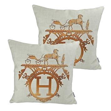 Cuscini Hermes.Thanksliving Confezione Da 2 Pezzi Motivo Burberry Federa Per