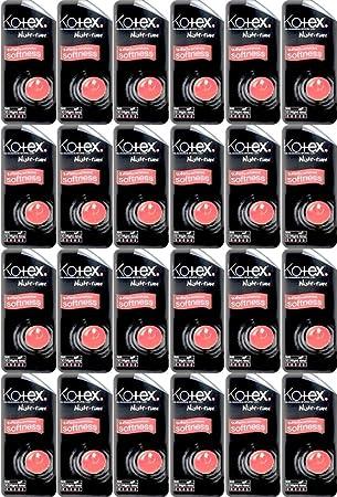 Twenty Four Packs Of Kotex Maxi Night Time 10 Pads Amazoncouk