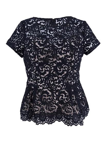 5cf96a1b14d837 Alex Evenings 119 Womens New 1219 Black Beige Embellished Lace ...