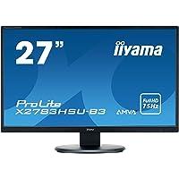"iiyama Prolite X2783HSU-B3 écran Plat de PC 68,6 cm (27"") Full HD LED Mat Noir - Écrans Plats de PC (68,6 cm (27""), 1920 x 1080 Pixels, Full HD, LED, 4 ms, Noir)"