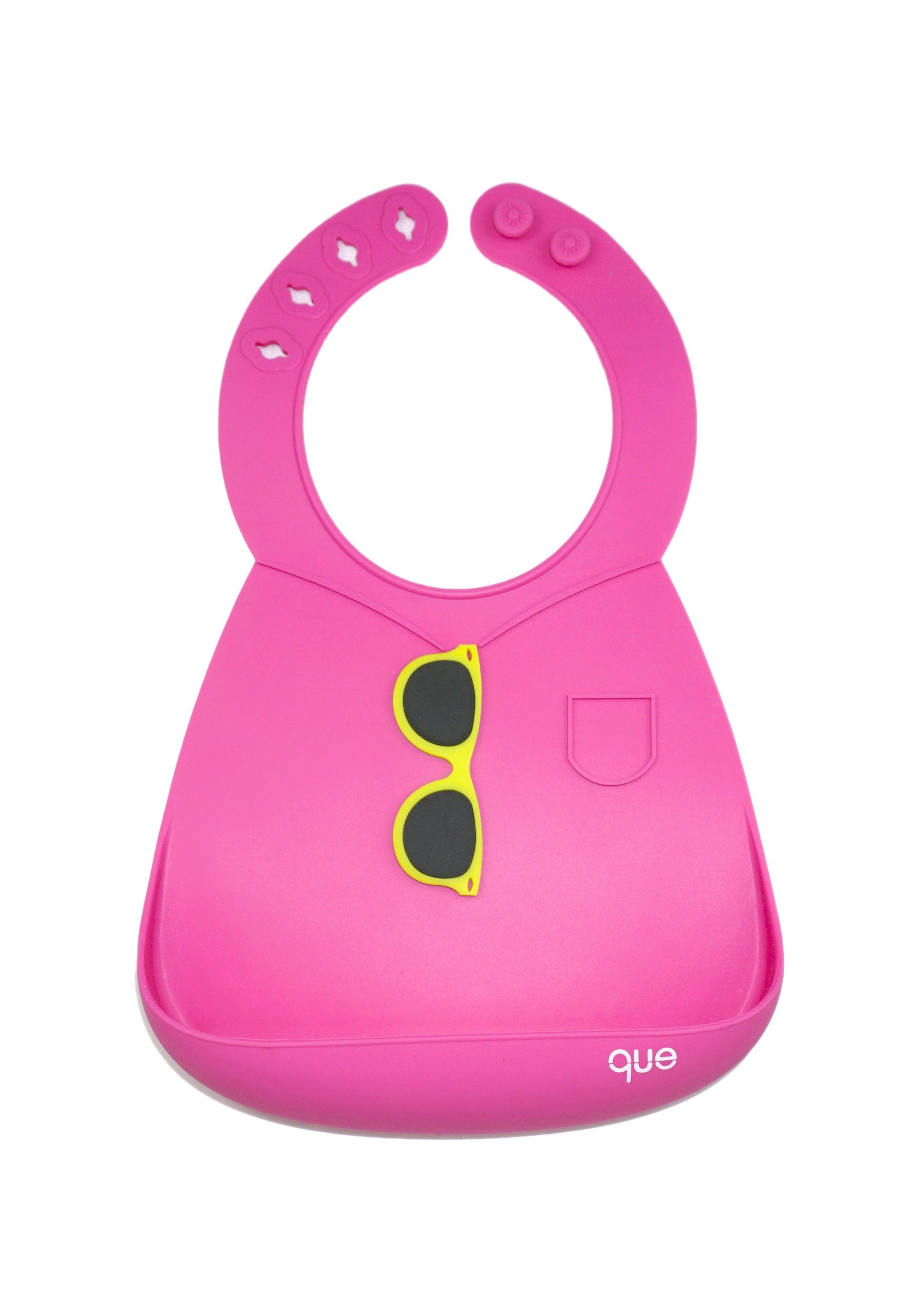BPA-Free, Waterproof, Soft, and Adjustable Silicone Baby Bibs! Lightweight, durable and easy to clean! Keep your baby happy & in style, spend less time cleaning! - que Bib