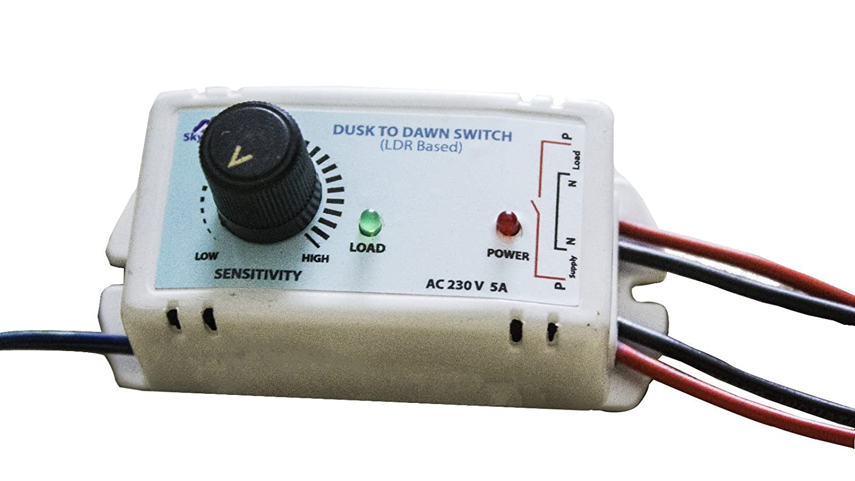 Buy Poweritsolar Automatic Day Night Dusk To Dawn Light Sensor ...