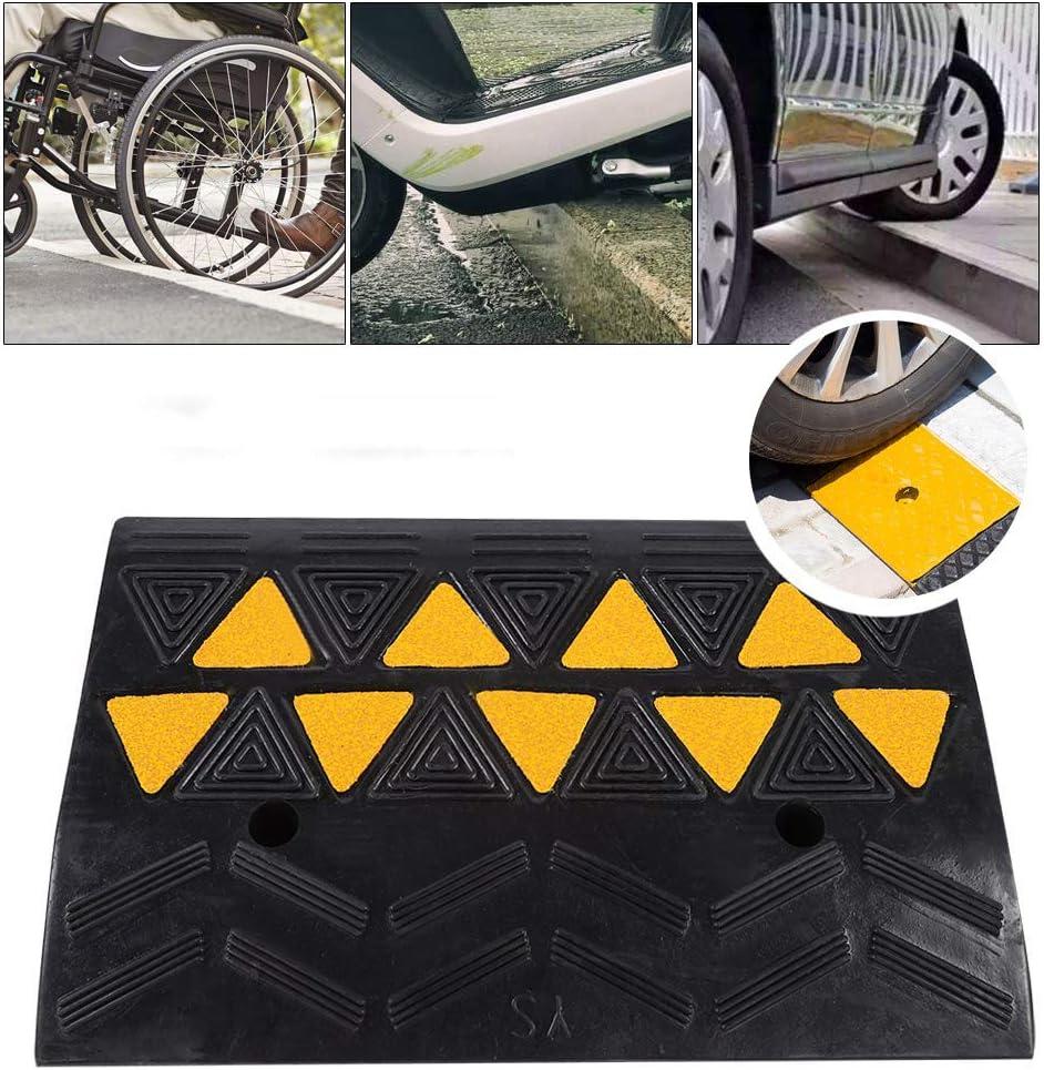 Roboraty Rampas de Goma de Servicio Pesado, Rampa de umbral de Silla de Ruedas para vehículos de Entrada, Rampa de acera portátil, Rampa de Carga de Grado Profesional