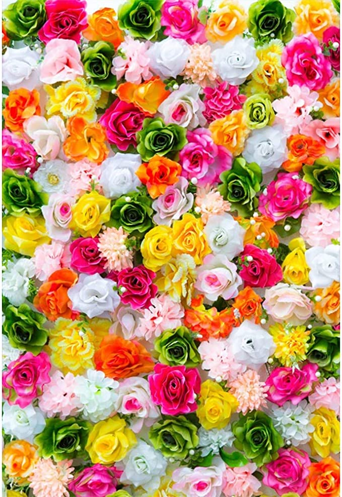 10x15 FT Photo Backdrops,Flowers and Text Camellia Valentines Love Letters Romantic Calligraphy Antique Background for Kid Baby Boy Girl Artistic Portrait Photo Shoot Studio Props Video Drape Vinyl