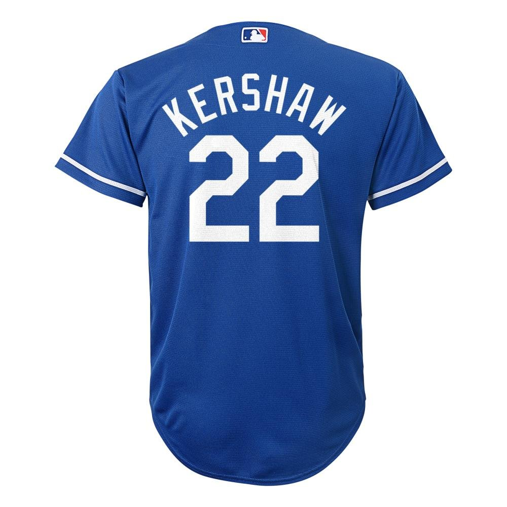 Amazon.com   Clayton Kershaw Los Angeles Dodgers  22 MLB Youth Cool Base  Alternate Jersey Blue (Youth Medium 10 12)   Sports   Outdoors 80108ae75a1