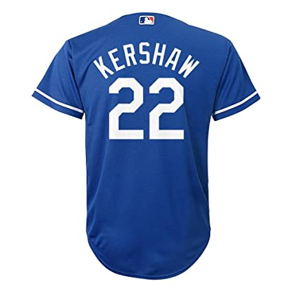 bd6e49111fa Amazon.com   Clayton Kershaw Los Angeles Dodgers  22 MLB Youth Cool Base  Alternate Jersey Blue (Youth Medium 10 12)   Sports   Outdoors
