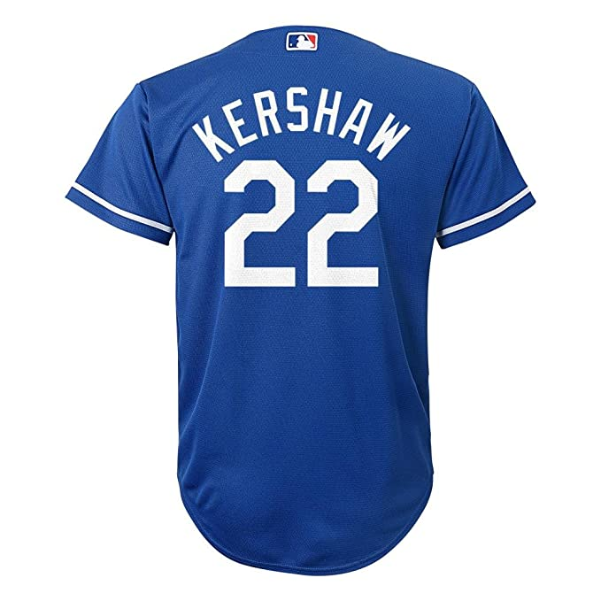 hot sale online e27e5 87f11 Clayton Kershaw Los Angeles Dodgers #22 MLB Youth Cool Base Alternate  Jersey Blue (Youth Medium 10/12)