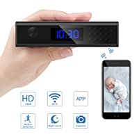 Spy Camera, Colohas Hidden Camera Clock with 1080P WiFi Video Recorder,Talking Function IP Wireless Motion Detection Nanny Cam for Indoor Home Security Monitoring (Sony Lens)