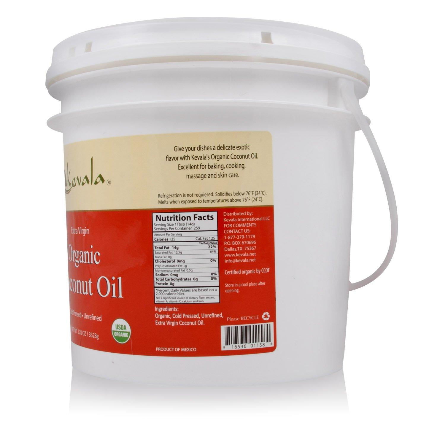 Kevala Organic Coconut Oil, 8 Pound by Kevala (Image #2)