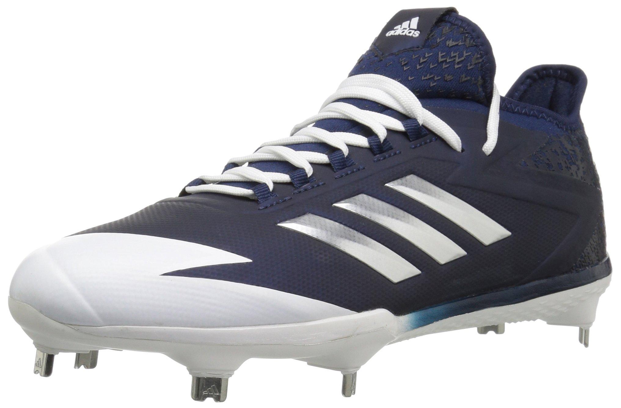 adidas Men's Freak X Carbon Mid Baseball Shoe, Collegiate Navy, Silver Met, FTWR White, 7 M US
