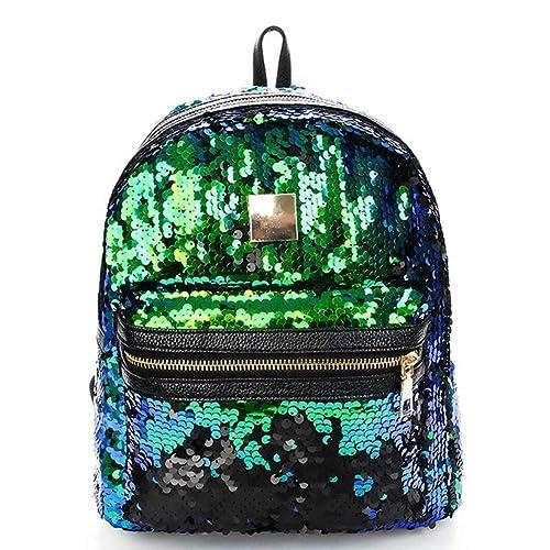 VHVCX Mochila brillo de lentejuelas mujeres mochilas adolescente Bling marca de moda astilla del oro del bolso de escuela de Mochila: Amazon.es: Zapatos y ...