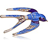 a81d106cf AILUOR Lovely Enamel Swallow Brooch Pins, Rhinestone Animal Bird Collection  Custom Accessories Wedding Brooches Lapel