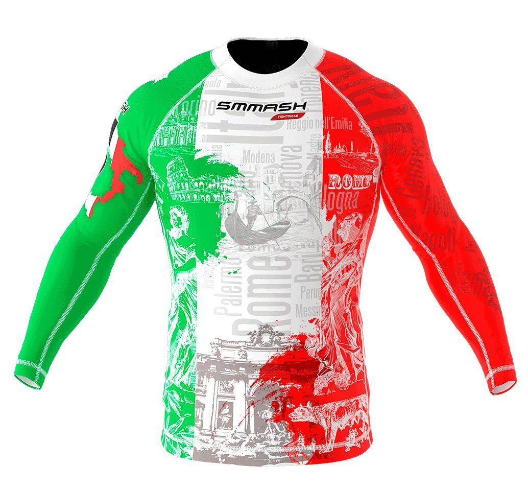Image of SMMASH Long Sleeve Rashguard ITALY