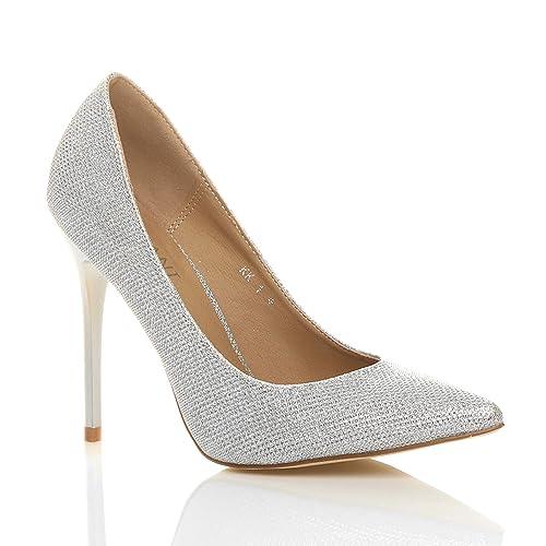 Donna tacco alto lavoro festa elegante scarpe de moda décolleté a punta  taglia  Amazon.it  Scarpe e borse f6055d81b5a
