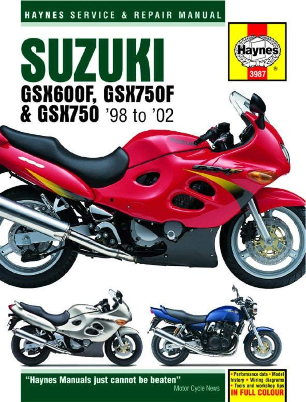 98 02 Suzuki Gsx600f Haynes Repair Manual Automotive Rv 125 Wiring Diagram