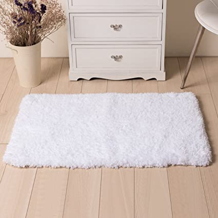 Superbe LOCHAS Soft Shaggy Bath Mat Super Absorbs Water Bathroom Rugs Luxur  Microfiber Washable Bath Rug With