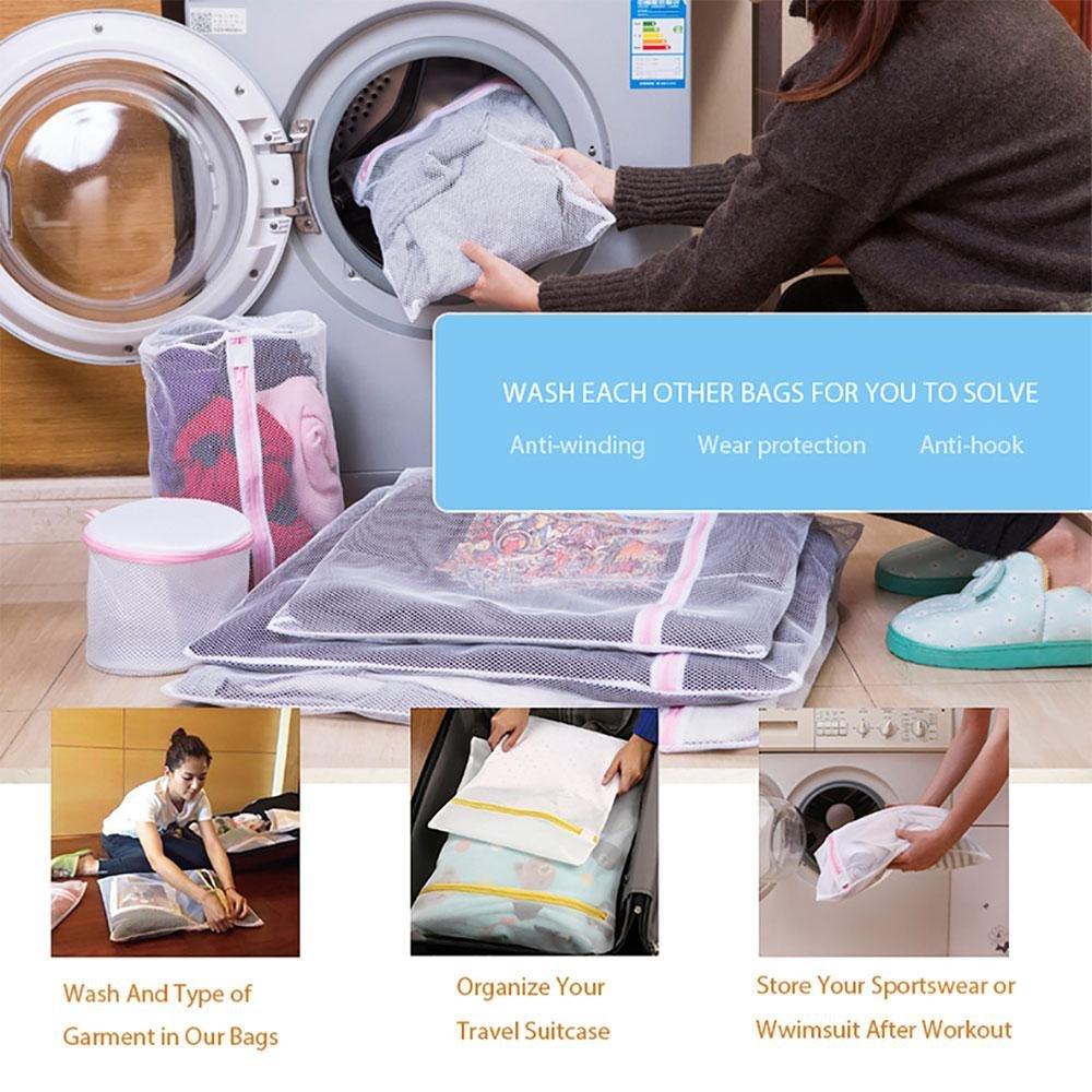 Calcetines Ropa de beb/é Juego de 7 Bolsas de lavander/ía de Malla Reutilizable para Lavadora Pawaca Ropa Interior Bolsas de Red de Lavado con Cremallera para Sujetador s/ábanas