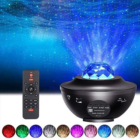 Proyector de Estrellas de Luz Nocturna, ALED LIGHT 2 in 1 Proyector LED de Luz de Noche Estrellada con Altavoz Bluetooth Navidad Lámpara de Proyector ...