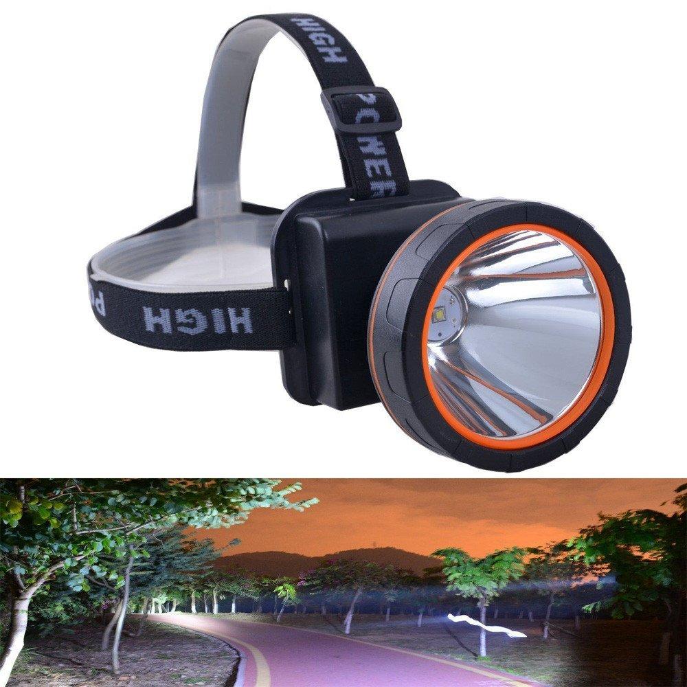 QinMM Linternas frontal, Linterna LED super brillante Linterna recargable 5000 lúmenes para la caza para acampar, senderismo, pesca nocturna, ...
