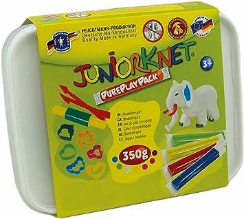 Feuchtmann Juguetes 6280317 - Mini Box Juniorknet plastilina, 7 Barras en la Caja de almacenaje, 17 Pieza: Amazon.es: Juguetes y juegos