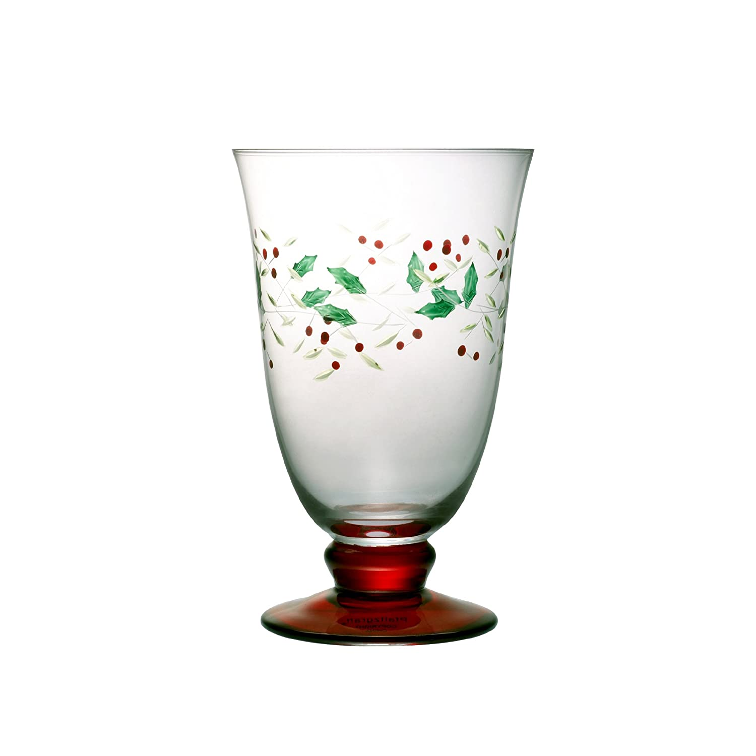 pfaltzgraff winterberry 14ounce glass water goblets set of 4