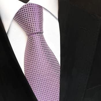 Diseñador corbata de seda - morado lila violeta plata modelada ...
