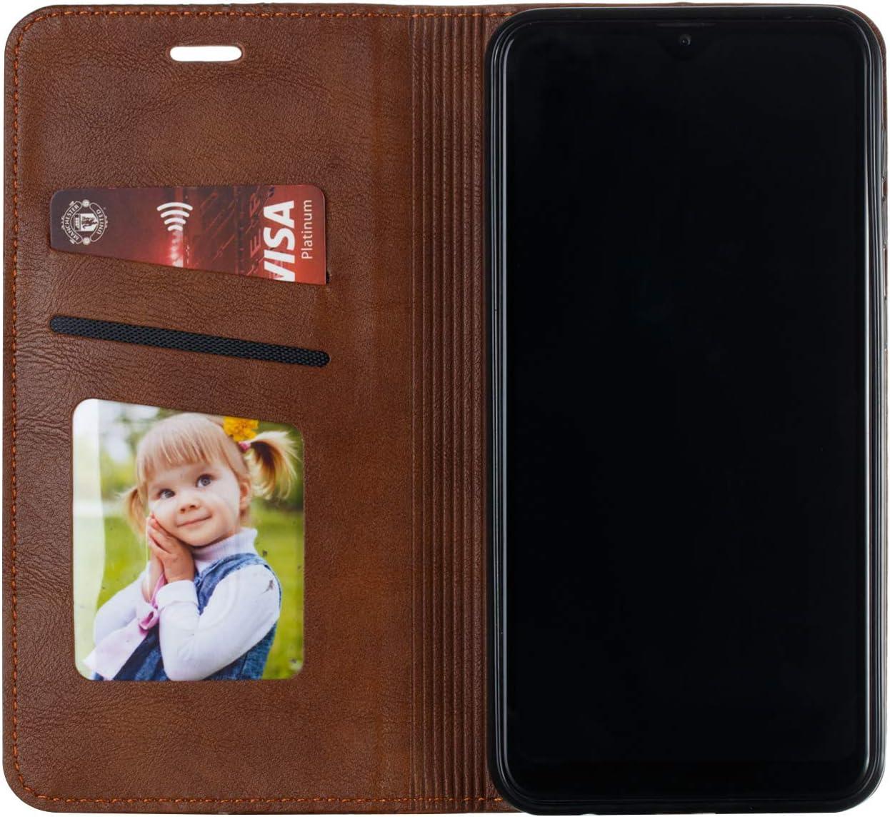 Lomogo Coque Galaxy A10 LOYTE030111 Bleu M10 Portefeuille Housse en Cuir avec Porte Carte Fermeture par Rabat Aimant/é Antichoc /Étui Case pour Samsung Galaxy A10//M10