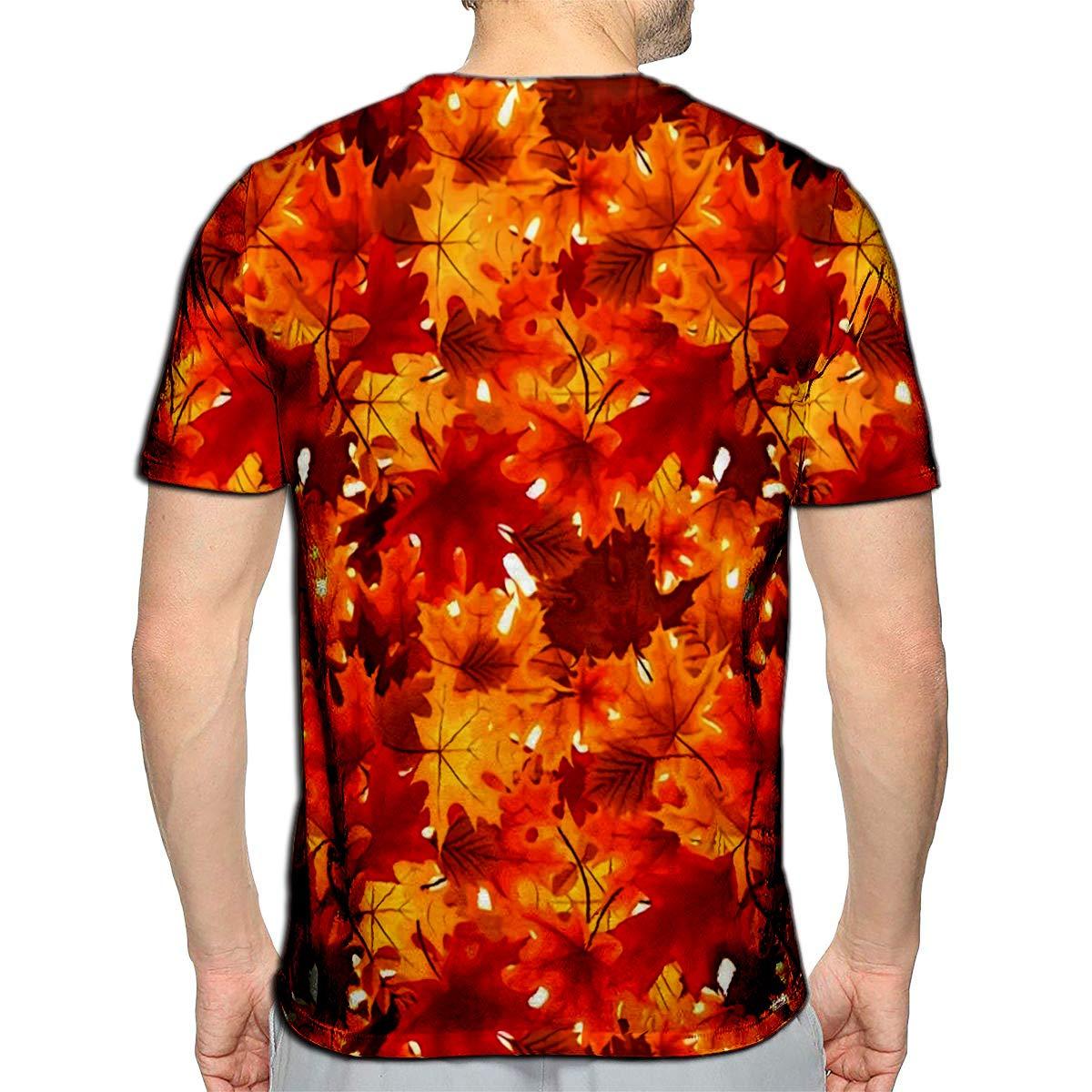 Randell 3D Printed T-Shirts Flower with Orange Design Short Sleeve Tops Tees