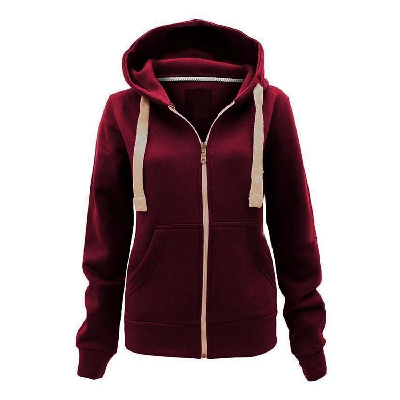 PURL Made By Malaika® New Kids Girls Boys Plain Coloured Hoodie Unisex Children Fleece Sweatshirt Junior Pockets Zip Up Warm Jacket Zipper Tops 3-13 Years