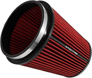 Spectre Universal Clamp-On Air Filter: High Performance, Washable Filter: Round Tapered; 6 in (152 mm) Flange ID; 8.5 in (216 mm) Height; 7.719 in (196 mm) Base; 5.125 in (130 mm) Top, SPE-HPR9891