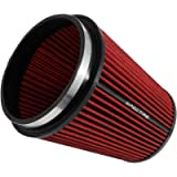 Spectre Universal Clamp-On Air Filter: High Performance, Washable Filter: Round Tapered; 6 in (152 mm) Flange ID; 8.5 in…