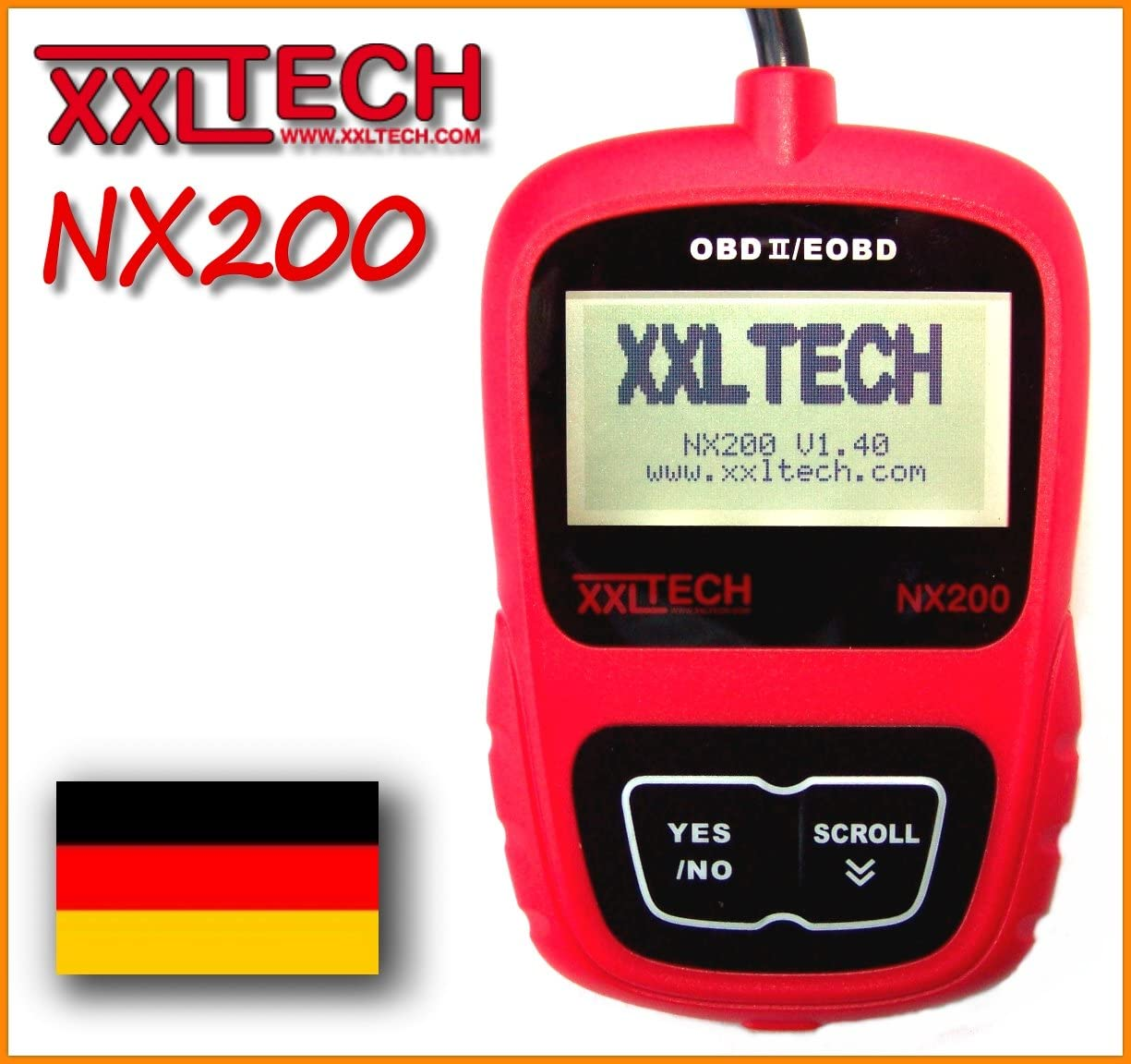 Xxl Tech Kwp2100 Nx200 Can Bus Diagnosis Scanner Obd 2 German Language Auto