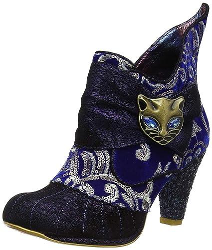Blau Metallic Choice Damen Knochel Stiefel Miaow Irregular OZuPXikT