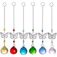 Crystal Ball Prism Sun Catchers Butterfly Rainbow Suncather Hanging Ornaments for Window Garden Wedding Decoration Pack…