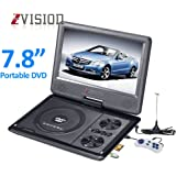 ZVision 3D 7.8 Inch Portable DVD VCD CD Player MP3 MP4 Color TV USB Memory Card Slot